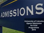 University Of Calcutta Opens Admission For B Ed Programme