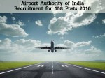 Aai Recruitment For 158 Manager And Junior Executive Posts
