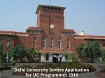 Delhi University Invites Application For Ug Programmes