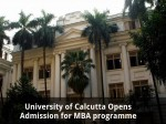 University Of Calcutta Opens Admission For Mba Programme