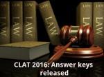 Clat 2016 Answer Keys Released