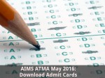 Aims Atma May 2016 Download Admit Cards