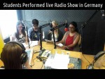 Students Performed Live Radio Show In Germany