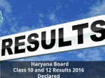 Haryana Board Class 10 And 12 Results 2016 Declared