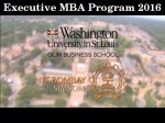 Executive Mba Program From Iit Bombay Wustl