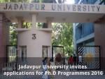 Jadavpur University Invites Applications For Ph D Programmes