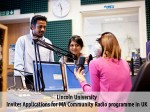 Lincoln Univ Uk Invites Applications For Ma Community Radio Programme