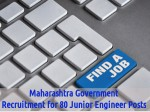 Maharashtra Government Job Openings For 80 Junior Engineer Posts