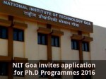 Nit Goa Invites Application For Ph D Programmes