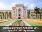 Osmania University Admission 2016 Apply For Ug Programmes