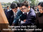 Telangana Class 10 Ssc Results 2016 To Be Declared Today
