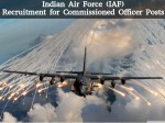 Indian Air Force Iaf Recruitment For Commissioned Officer Posts
