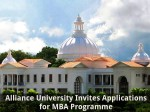 Alliance University Invites Applications Mba Programme