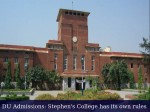 Du Admissions 2016 St Stephens College Passes Its Own Conditions