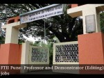 Walk In Professor And Demostrator Editing Posts At Ftii Pune