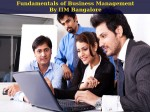 X Series On Fundamentals Of Business Management Iim Bangalore