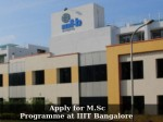 Iiit Bangalore Admissions 2016 Apply For M Sc Programme