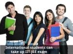International Students Can Take Up Exam Iit Jee Exam