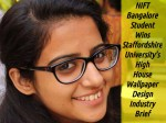 Nift Bangalore Student Wins High House Wallpaper Design Industry Brief
