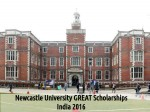 Newcastle University Great Scholarships India
