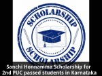 Sanchi Honnamma Scholarship For 2nd Puc Passed Students