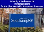 Msc Cyber Security Risk Management Programme By Univ Of Southampton Uk