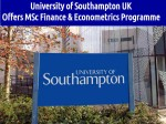 Univ Of Southampton Uk Offers Msc Finance And Econometrics Programme