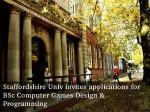 Staffordshire Univ Offers Bsc Computer Games Design Programming