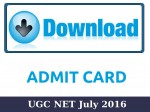 Ugc Net July 2016 Admit Cards Available For Download