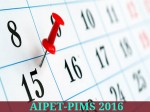 Aipet Pims 2016 Exam Dates