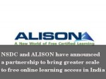 Nsdc Alison Collaborate Skill Development Across India