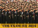 Cds Exam Ii 2016 Apply Before August