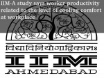 Iim A Study Says Worker Productivity Depends On Temperature Level