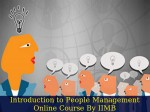 Learn Introduction To People Management Online Course By Iimb