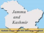 Kashmir Unrest Cbse Net 2016 Exam Postponed