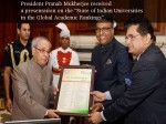 Pranab Mukherjee Received Presentation On The Indian Univers