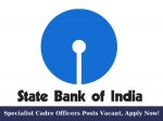 Sbi Invites Applications For Recruitment Of Specialist Cadre Officers