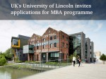 Uk S University Lincoln Invites Applications Its Mba Programme