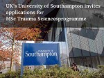 Uk S Univ Southampton Is Offering Msc Trauma Sciences Programme