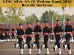Upsc Nda Na I Exam 2016 Results Declared