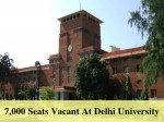 Seats Vacant At Delhi University 3 More Cut Offs To Be Released