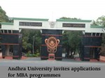 Andhra University Invites Applications For Mba Programmes