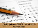 Cbse Releases Neet 1 Neet 2 Answer Keys Download Now