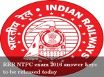 Rrb Ntpc Exam 2016 Answer Keys Be Released Today