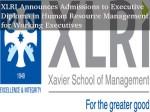 Xlri Offers Executive Diploma Hrm Working Executives