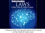 Reasons Why You Should Choose Your Career In The Field Of Cyber Law