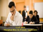 Cat 2016 Registration Marginal Increase In Female Candidates Observed