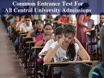 Common Entrance Test For All Central Universities Hrd Ministry