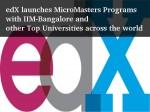 Edx Brings Micromasters Programs With Iimb Other Top Universities