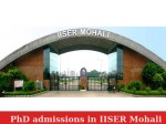 Iiser Mohali Invites Application Phd